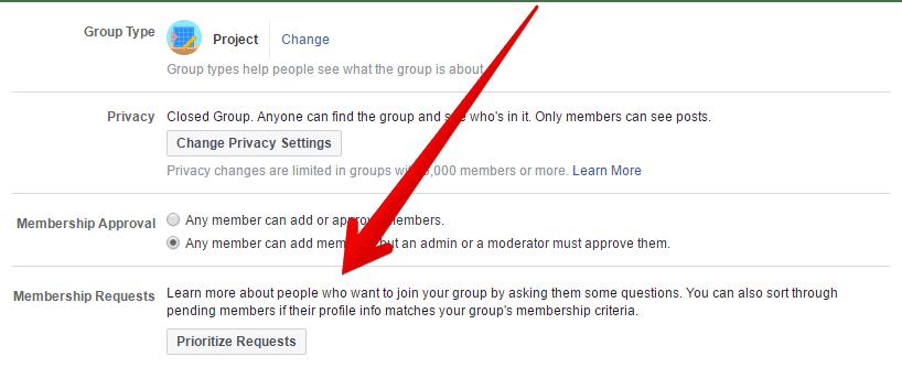 פרסונליזציה לקליטת חברים בקבוצת פייסבוק